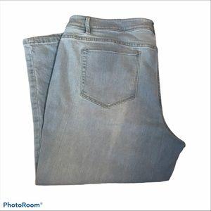 J. JILL Capris Crop Pants Light Wash